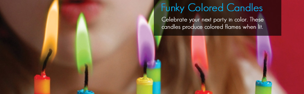 Funky Colored Candles